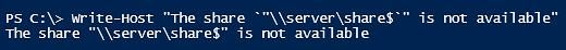 sinle quotes powershell escape