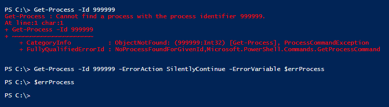 errorvariable-not-working-powershell