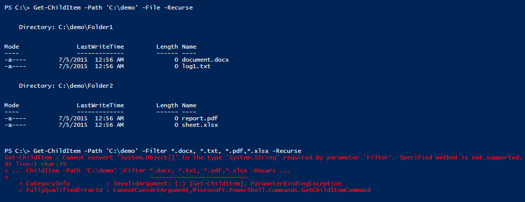 get-childitem-with-multiple-files-extensions-powershell