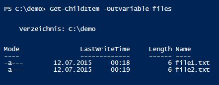 outvariable-powershell-files-one-line