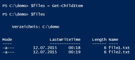 outvariable-powershell-files-two-lines