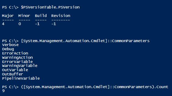 powershell-v4-common-parameters