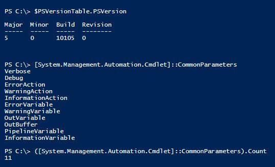 powershell-v5-common-parameters