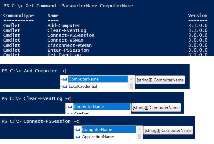 powershell use same params native ones