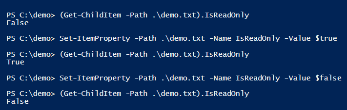 check-set-remove-readonly-powershell