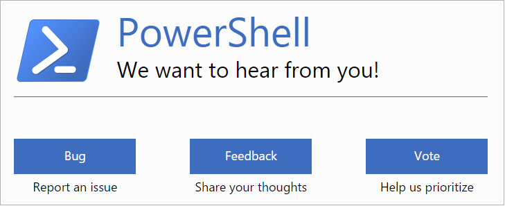 powershell-microsoft-connect-bug-feedback-vote