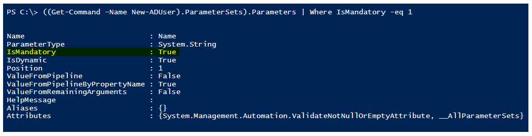 get-command-mandatory-parameter