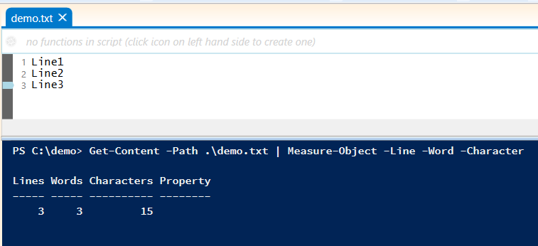 measure-object-lines-words-characters-powershell