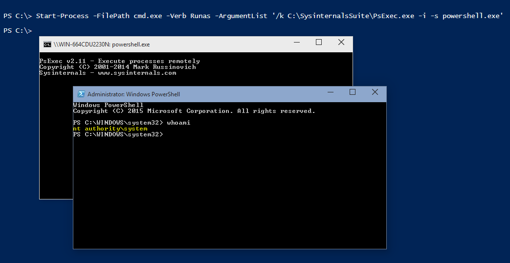 Powershell Tip #53: Run PowerShell as SYSTEM (NT