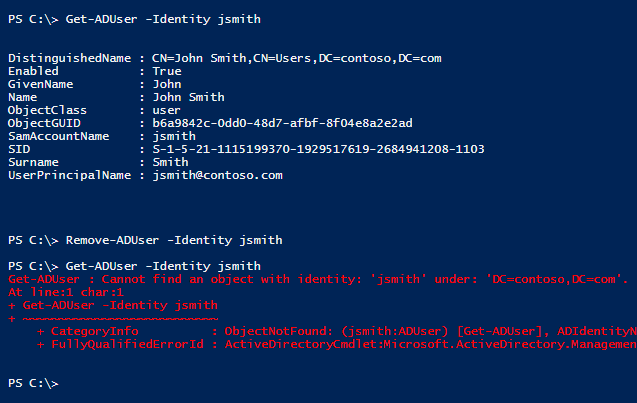 deleted user active directory recycle bin
