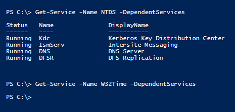 dependent-services-powershell-ntds