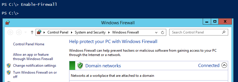 enable-firewall-powershell