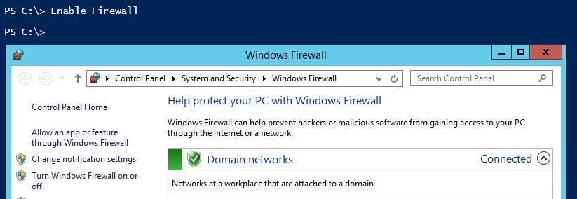 enable-firewall-powershell