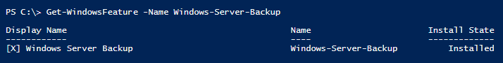 get-windowsfeature-windows-server-backup