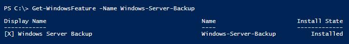 get-windowsfeature-windows-server-backup