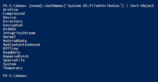 list-files-io-attributes-powershell