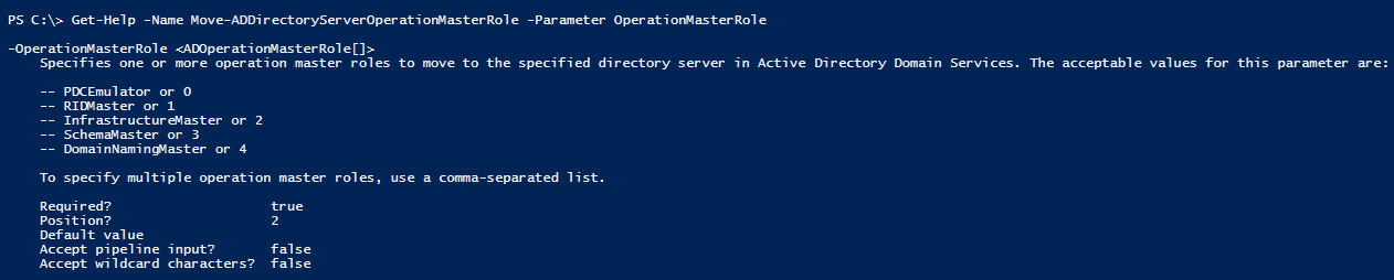 numbres-fsmo-parameters-powershell