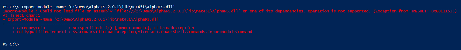 Import-Module-error-powershell-alphafs