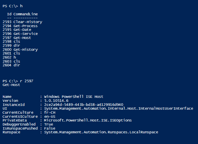 Powershell Tip #101: Run a command from the history