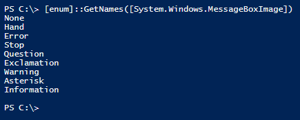 Powershell-MessageBoxImage-Enum