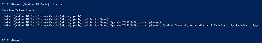 how to create a file in powershell