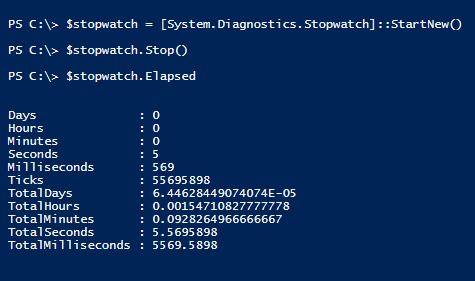 create-stopwatch-powershell-elapsed