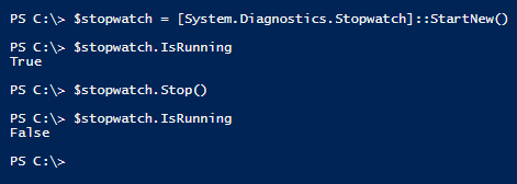 create-stopwatch-powershell-isrunning