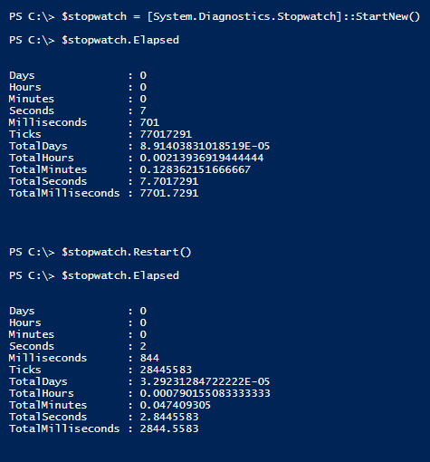 create-stopwatch-powershell-restart-elapsed