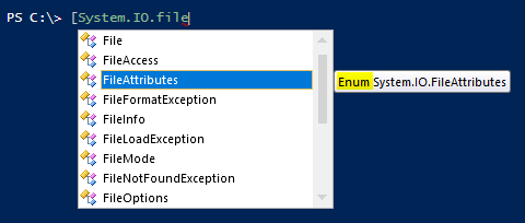 powershell-enumerations-object-fileattributes