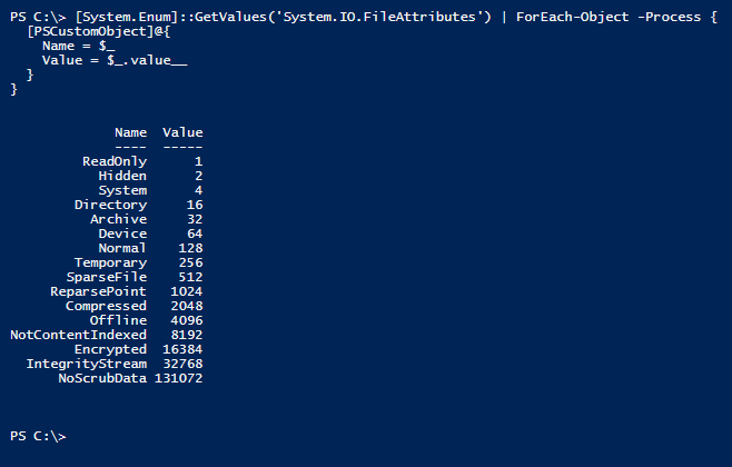 powershell-get-int-value-from-enum-multiple-values