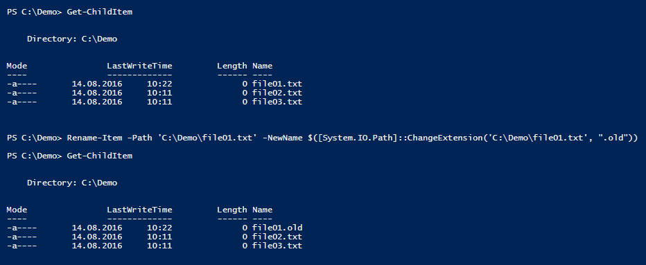 rename-extension-powershell-single-file
