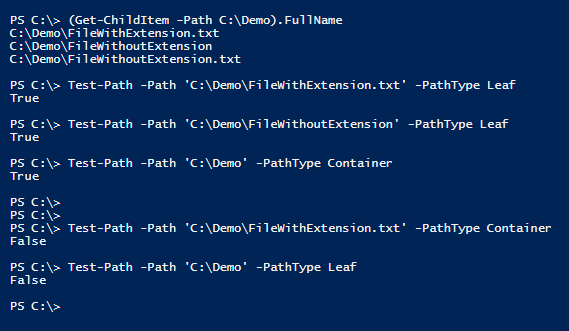test-if-path-is-file-or-directory