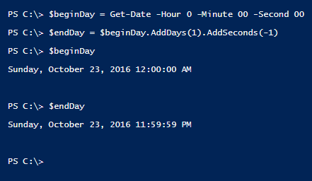 get-start-time-and-end-day-powershell