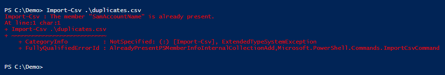 import-csv-duplicates-powershell