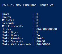 new-timespan-hours-powershell