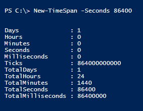 new-timespan-seconds-powershell